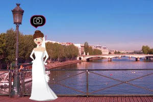 Lily sur le pont des arts