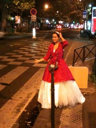 Une mariée du Wedding Debriefing fait du stop