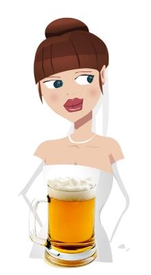 Lily et sa bière